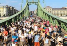 Thousands march in Budapest Pride Parade to oppose anti-LGBTQ law